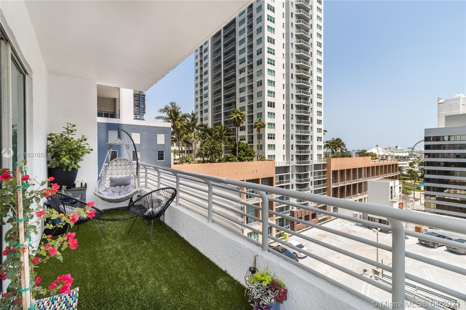 Wonderful loft unit features 10 ft ceilings, extended terrace around the unit, Italian cabinets, sta