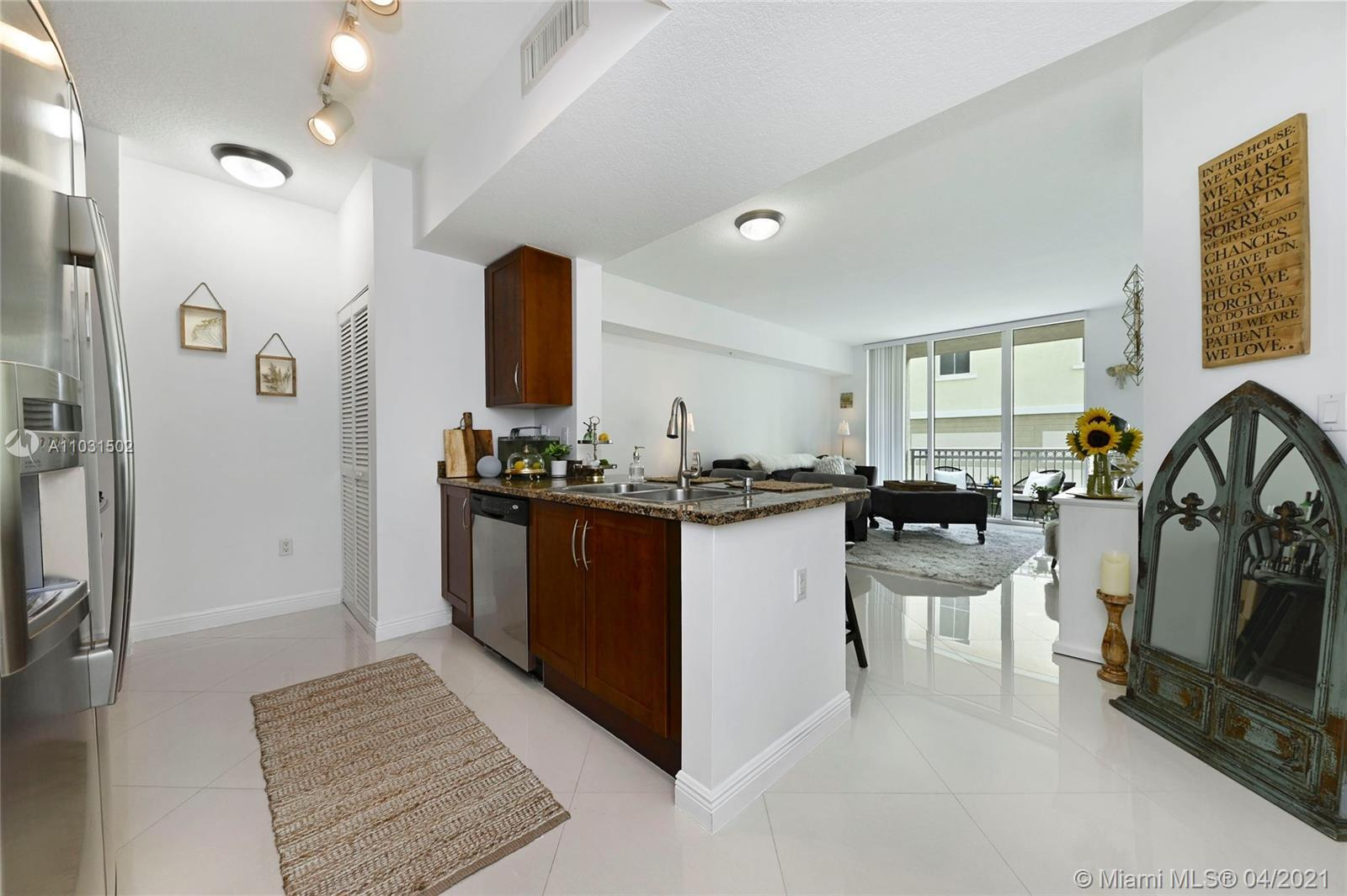 Gorgeous and bright 835sf 1bd/1.5 ba condo in a 5-star resort-style building! Brand new porcelain fl