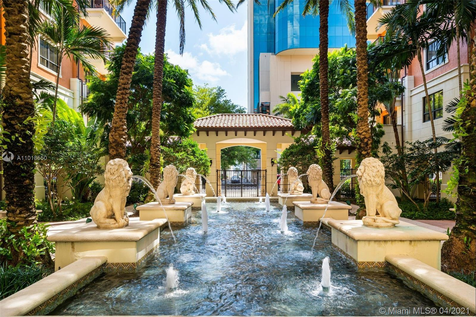 Luxury boutique building located in Coral Gables one block from Miracle Mile's finest shops and rest