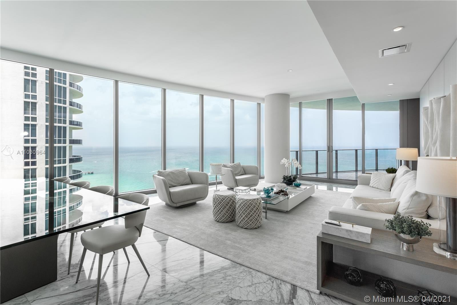 RITZ CARLTON SUNNY ISLES,  resort-style building right to your front door. Dramatic flow-thru apartm