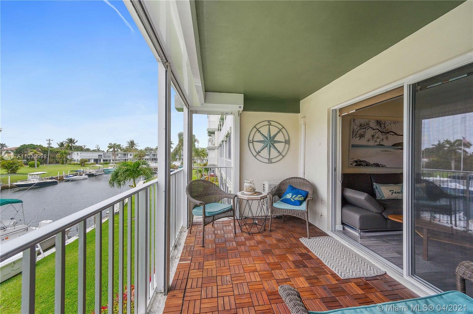 2 bedroom, 2 bath condo with covered balcony & view of the inlet and pool. Unit has been fully renov