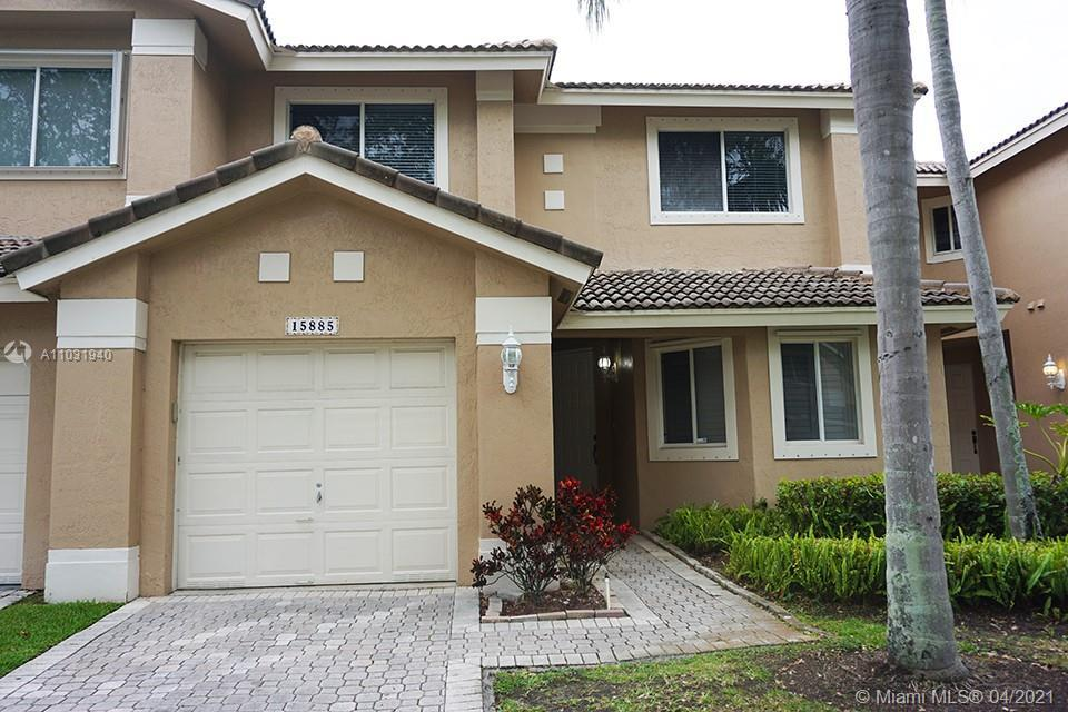 Beautiful 3 bedroom, 2 1/2 bath townhome in the Courtyards of Grand Palms in desirable Pembroke Pine
