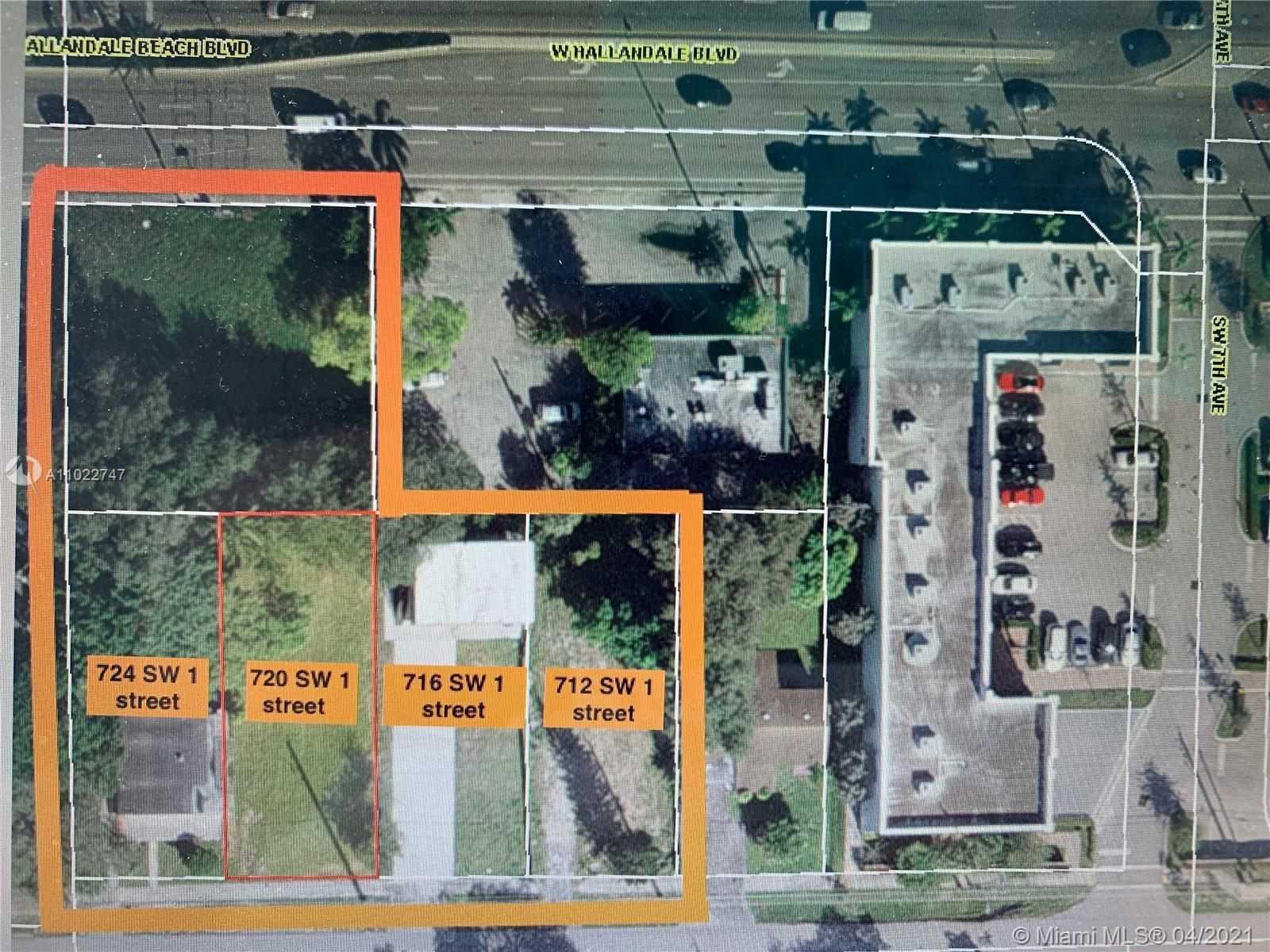 Commercial lot only, must be sold with 716 sw 1 street or 0.78 acres lot, 2 miles to the beach or Av