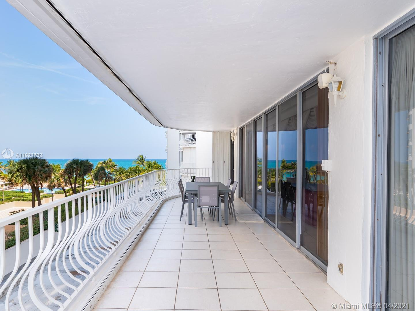 A 2 bedrooms and 3 baths unit in prestigious Bal Harbour 101 oceanfront building. A rare find, sold