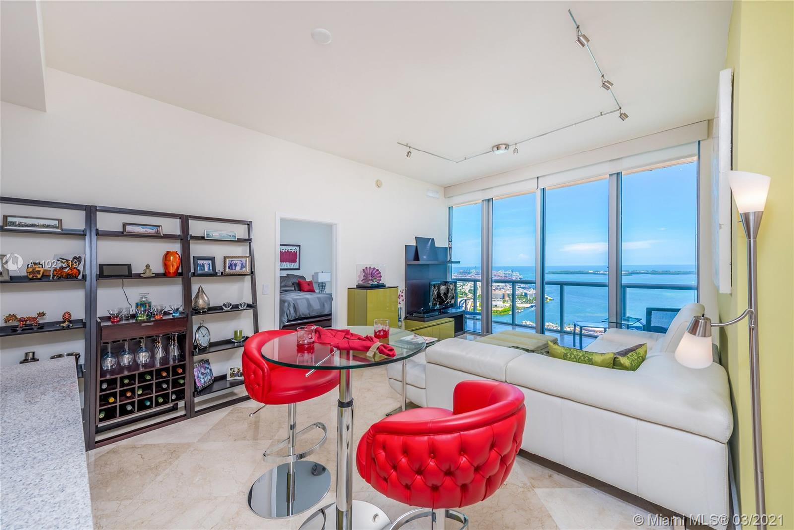 TENANT-OCCUPIED THROUGH JUNE 14TH. Turnkey furnished 1 Bed + Den/1.5 Bath condo at Marina Blue offer