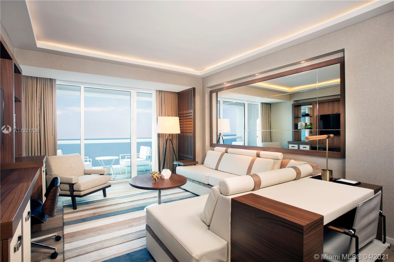 Full service living at it's finest! This perfectly sized direct ocean 1 bedroom is fully furnished;