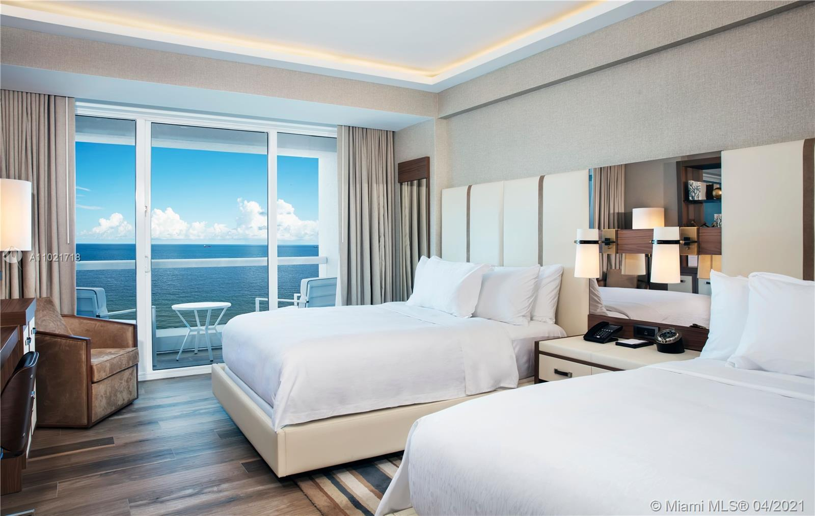 Full service living at it's finest! This direct ocean view, fully furnished studio, is a perfect sec