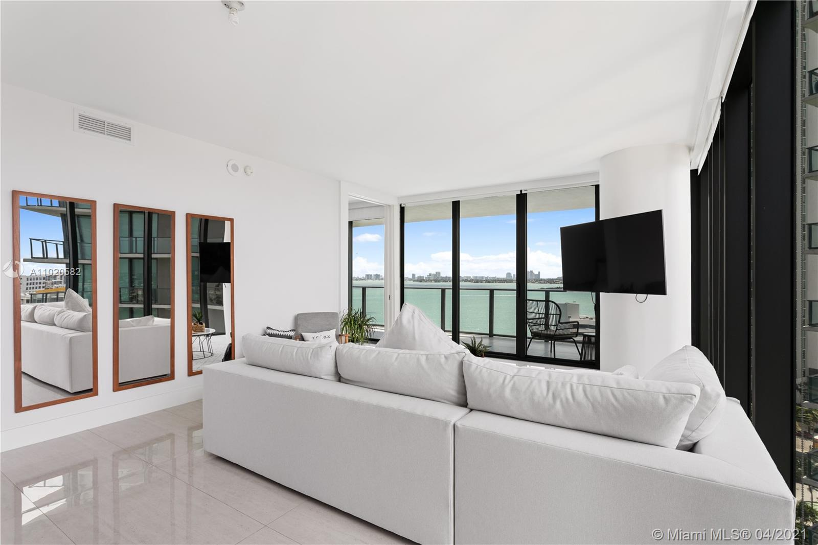 Corner Unit 3 Beds 3.5 Baths + Den with direct and unobstructed water views. Fully finished with por