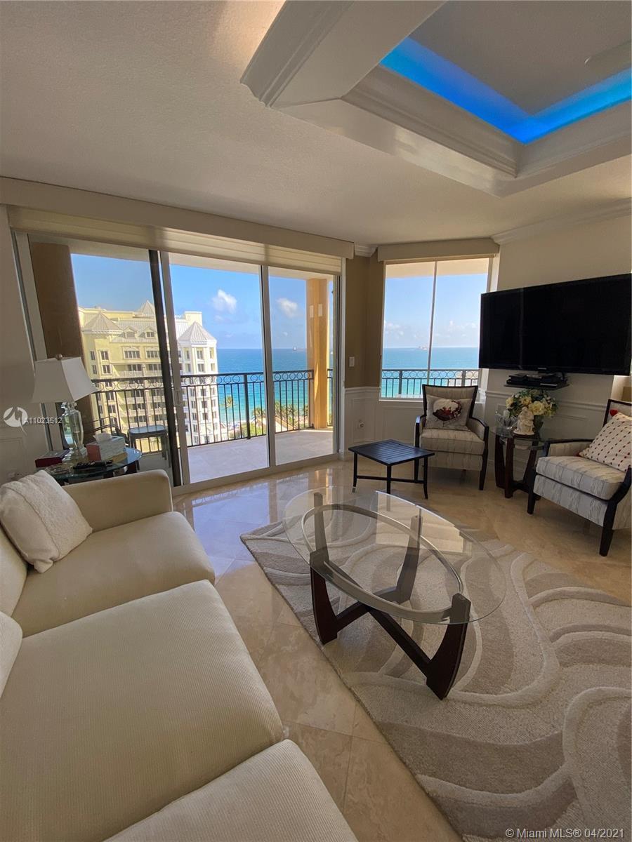 3 bedroom direct ocean condo in Ft. Lauderdale Beach. Upgrades include marble floors, custom lightin