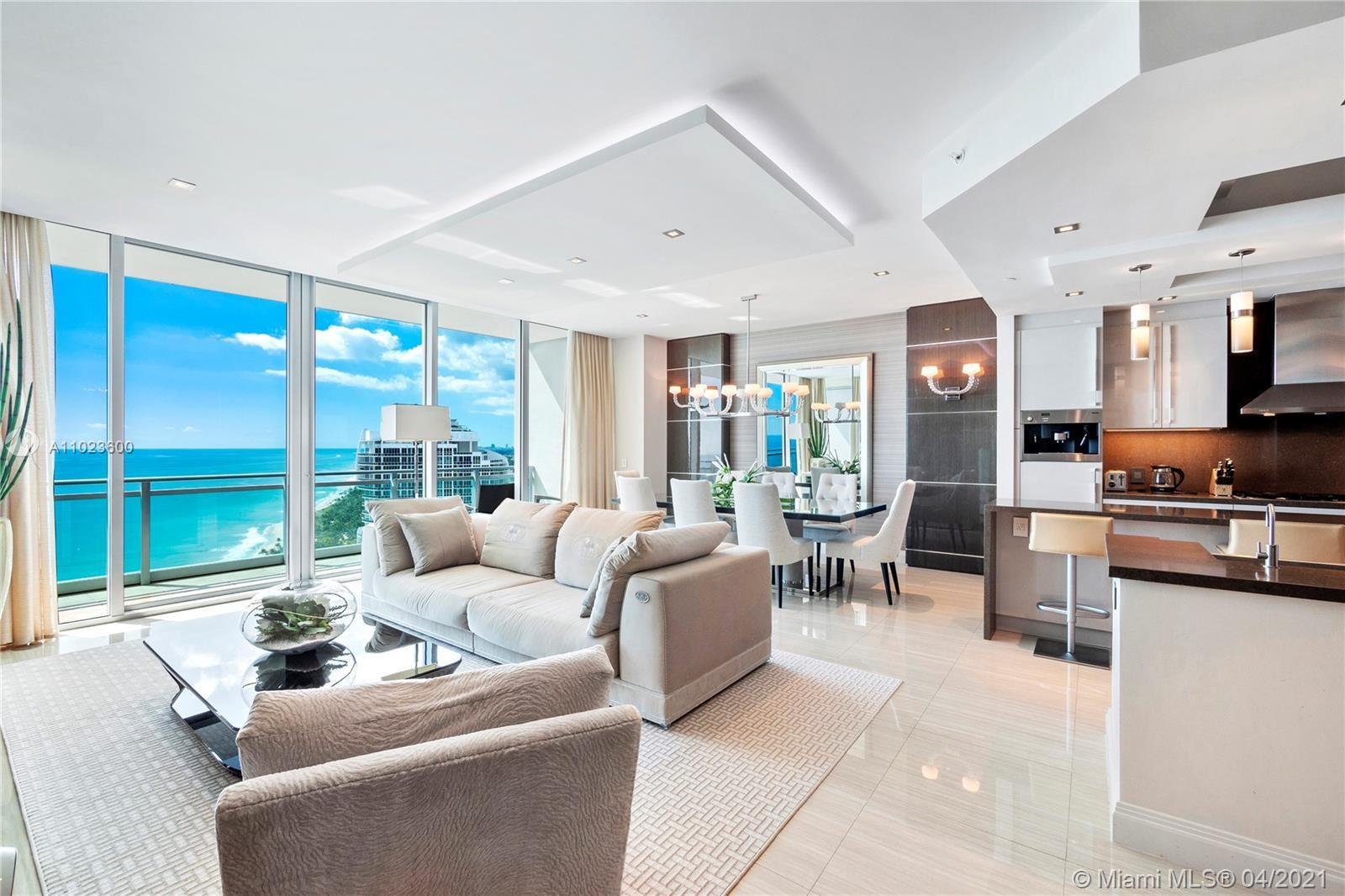 Professionally designed, turnkey 2 + Den/3 bedroom at One Bal Harbour. Direct and panoramic views fr