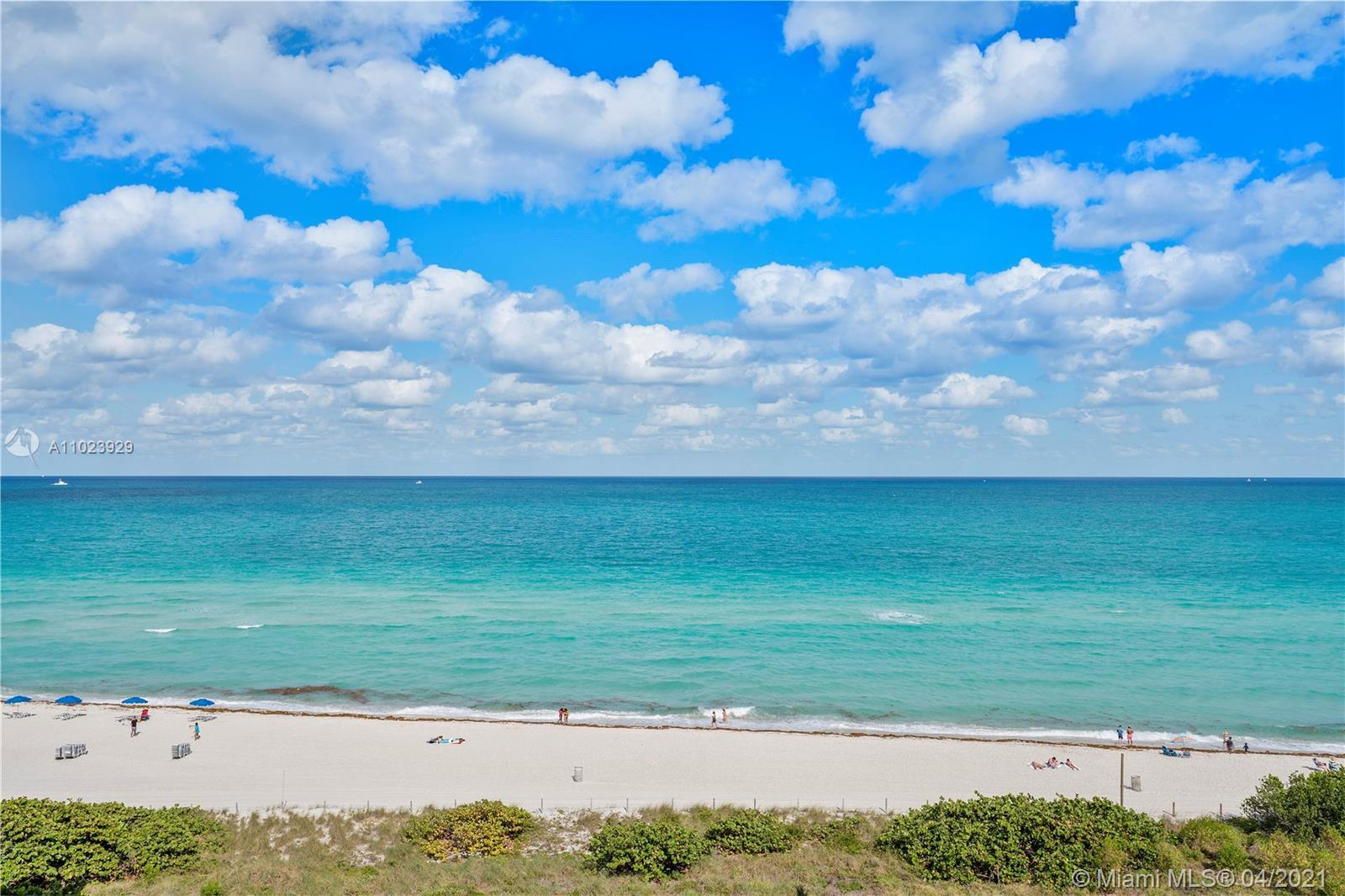 Direct ocean view, spacious 1 bedroom 2 bathrooms with marble flooring throughout. 906 sq ft. Expand