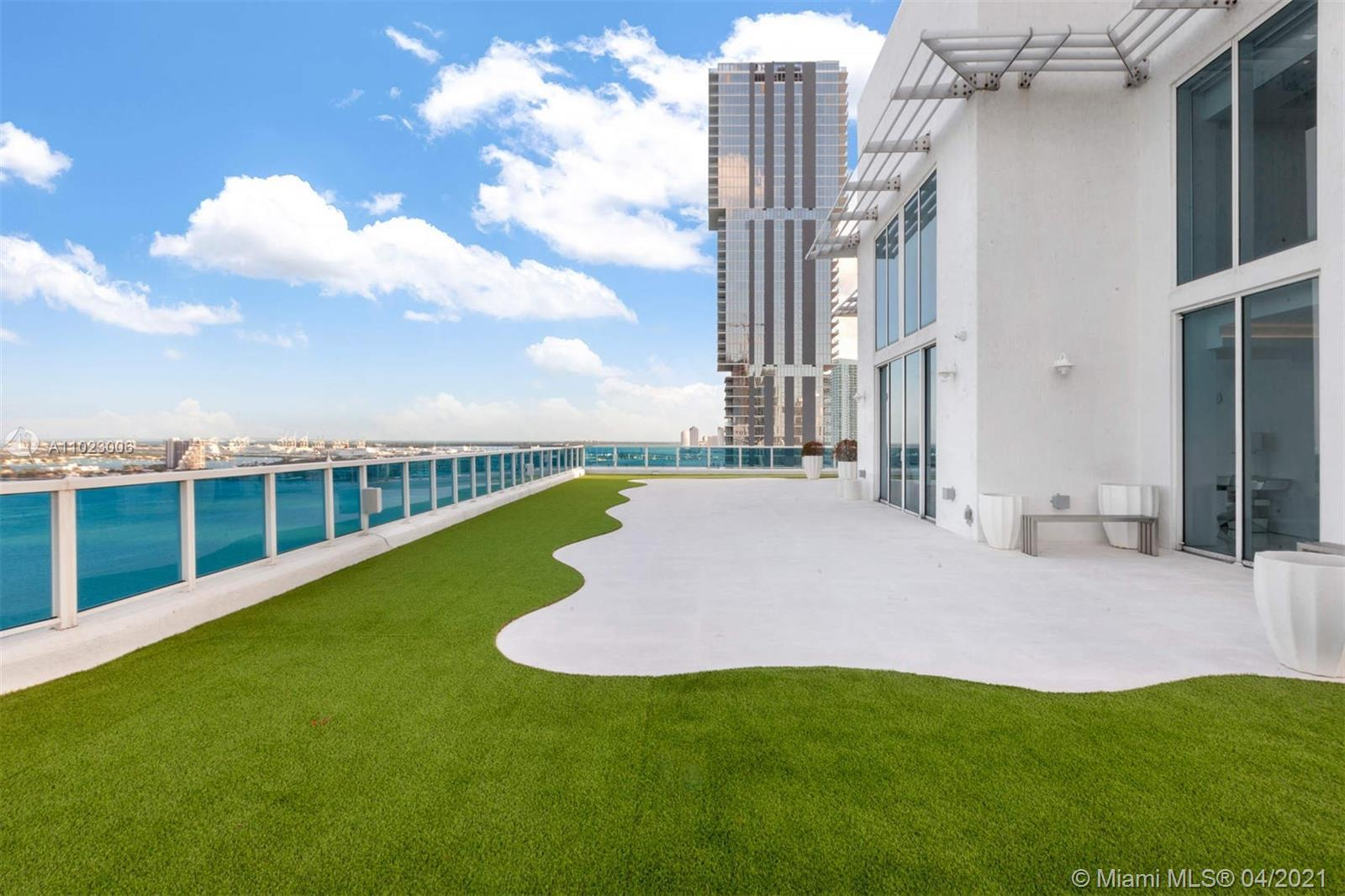 Step into a one-of-a-kind Penthouse, A 2 STORY HOME ON A ROOFTOP, in Miami's Edgewater neighborhood.