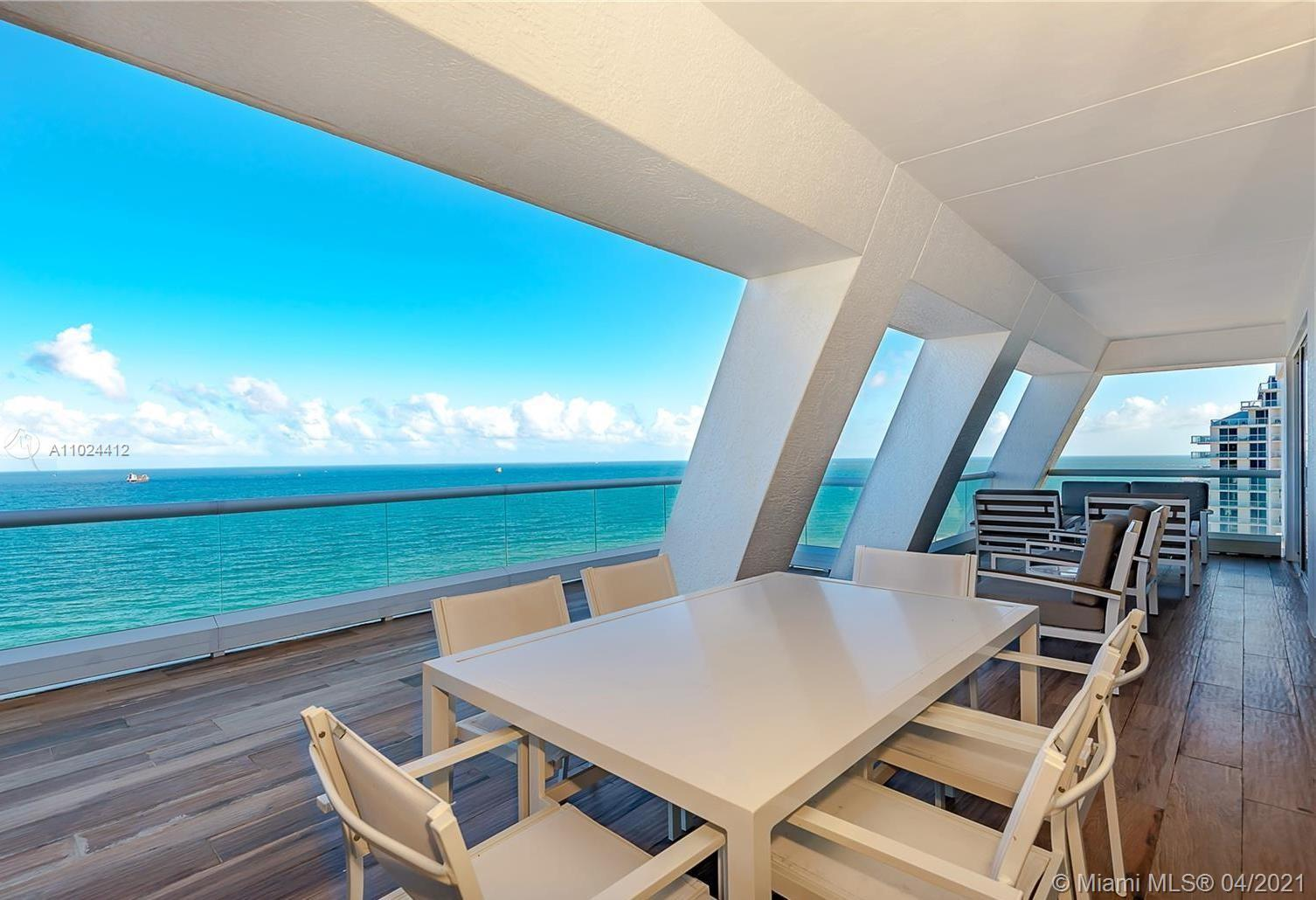 Amazing SE corner 2/2 with an oceanfront terrace! Completely furnished and finished, this unit at Th