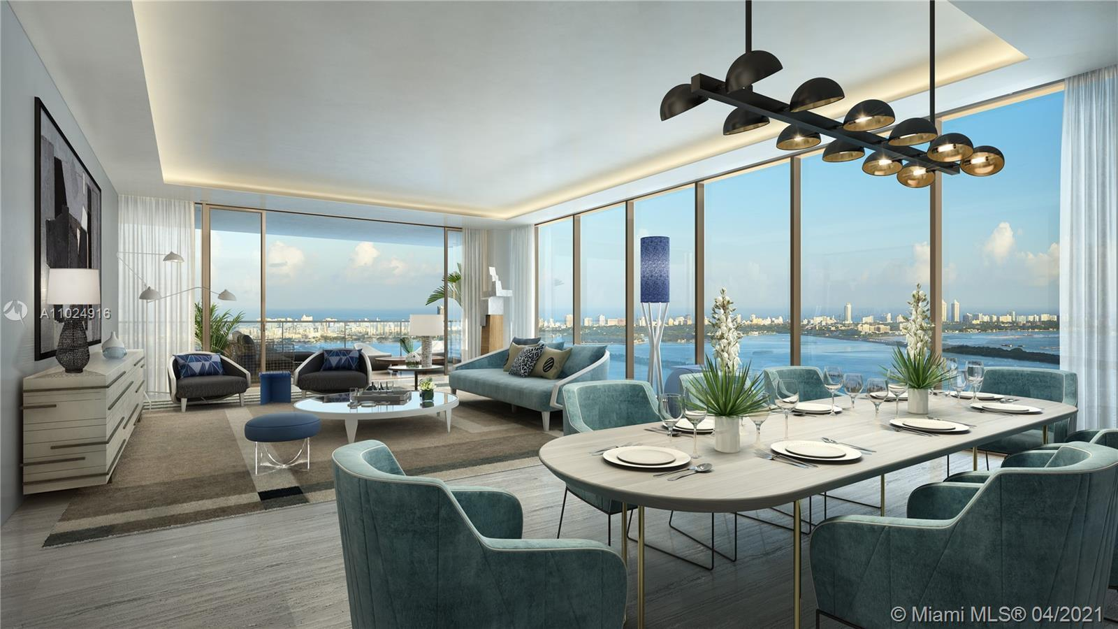 Top tier, stunning 4B, 4.5b unit at Elysee, the first luxury boutique building in Edgewater. Oversiz