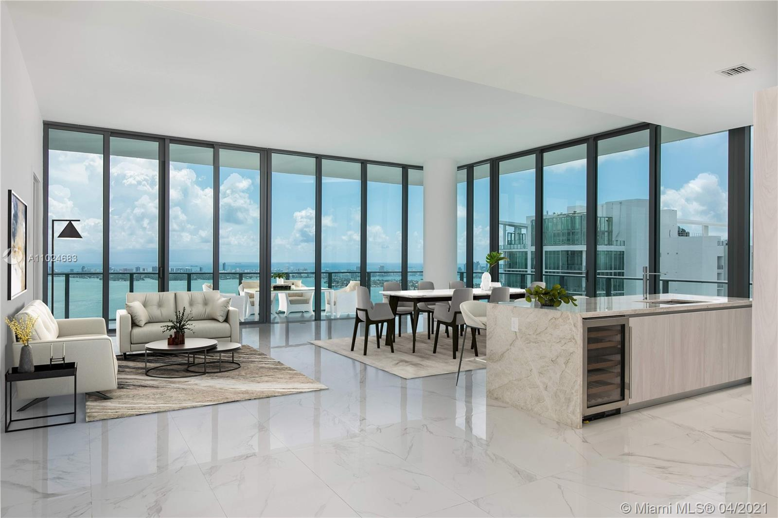 Stunning PH with unobstructed ocean views. 4 beds and 4 1/2 baths with a gorgeous floors, wraparound