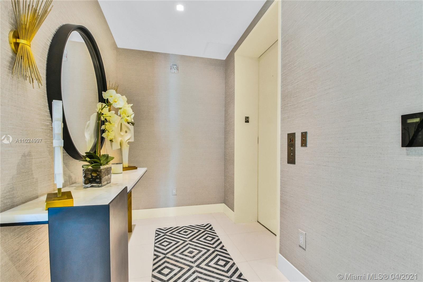 Stunning Jade Signature 34st floor flow-through floor plan. This residence has been professionally d