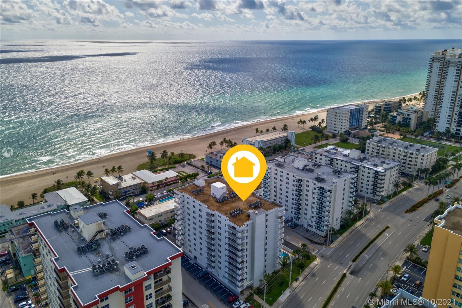 RENOVATED 2/2 STEPS FROM THE BEACH! Spacious move-in ready apartment with washer & dryer in unit, ne