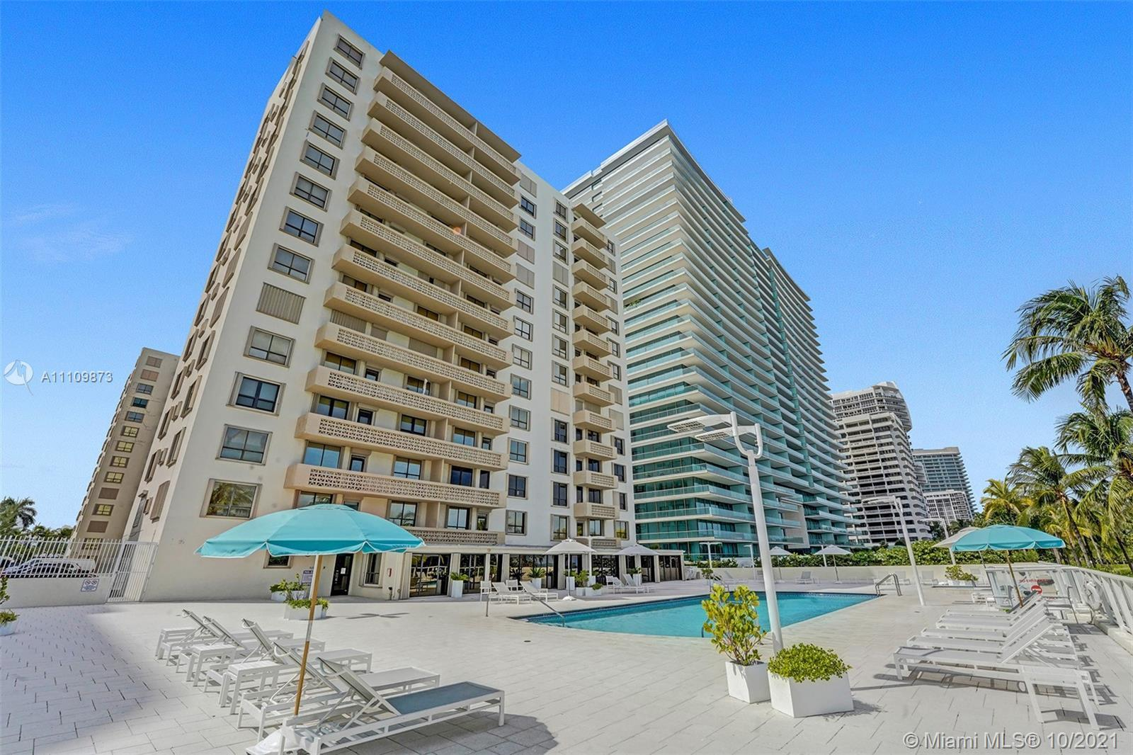OCEANFRONT BUILDING IN DESIRABLE BAL HARBOUR, FL. LARGE 2 BEDROOM 2 BATH WITH LARGE BALCONY + HURRIC