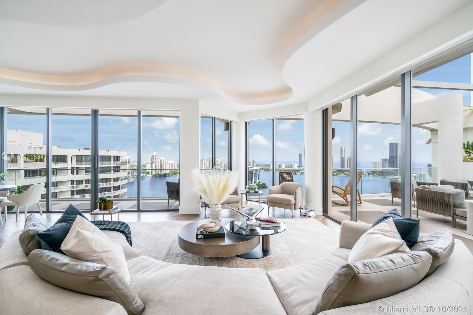 Escape the dine of the city in this luxury corner penthouse on William Island. Enjoy the stunning ci