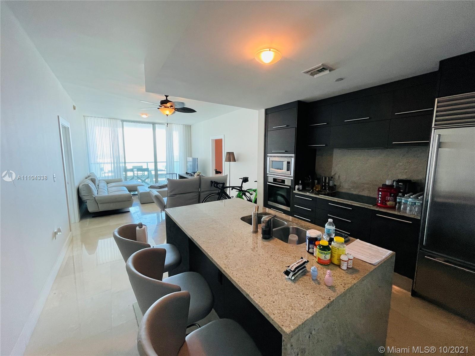 Spectacular one of a kind unit at 900 Biscayne Bay Tower. Luxurious 2 bedrooms/3 baths + den with 10