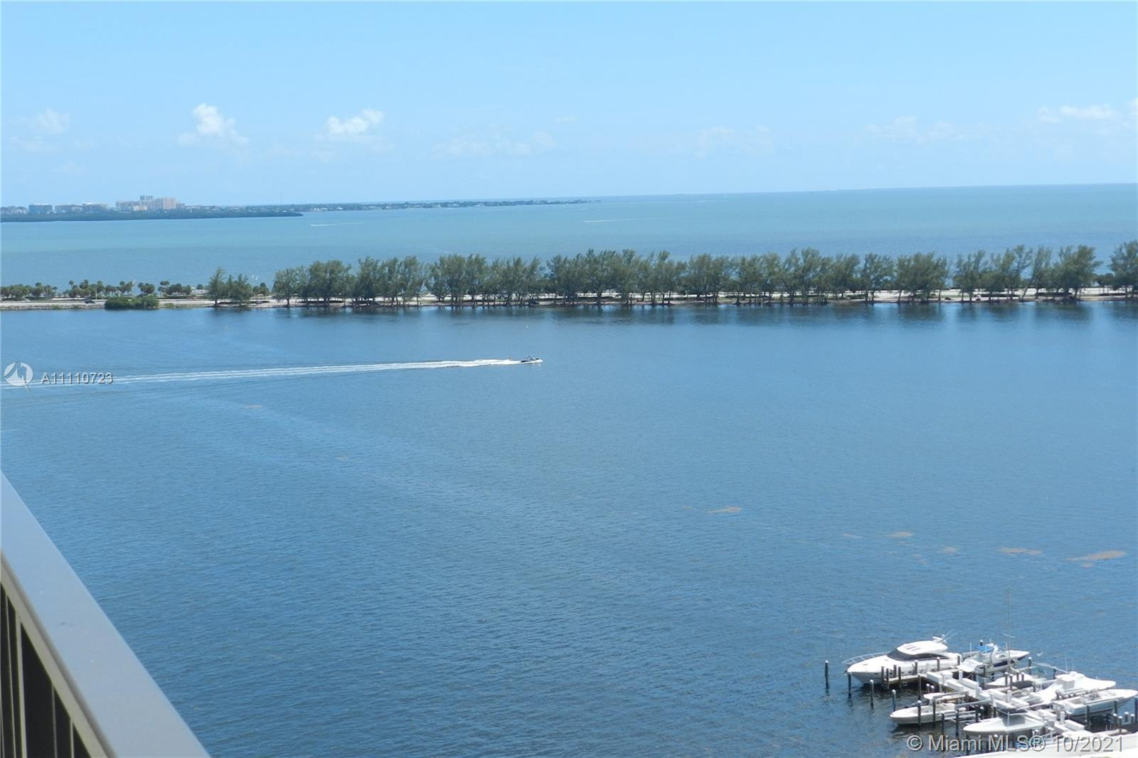 IT'S ALL ABOUT THE VIEWS, water, or city (Key Biscayne), this high floor apartment allows you to hav