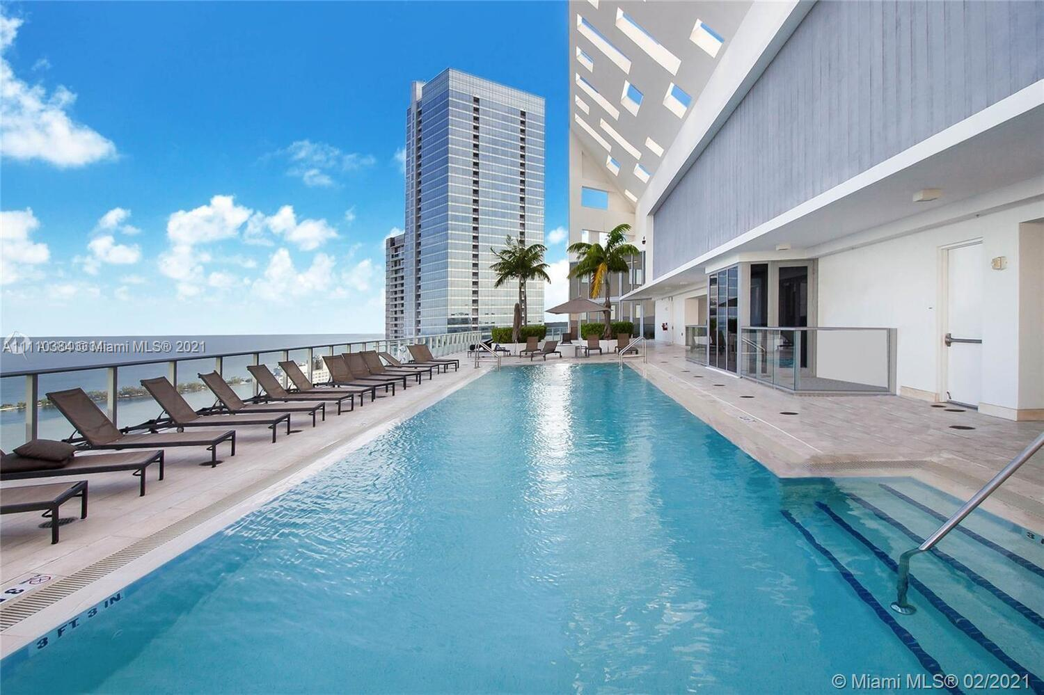 Brickell House offers its residents a number of fabulous amenities, including a rooftop pool and sun