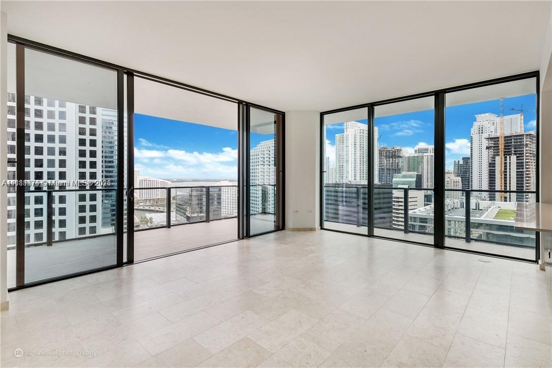Beautiful brand unit with 2 bedrooms, 2.5 baths, marble floors, modern kitchen with premium applianc