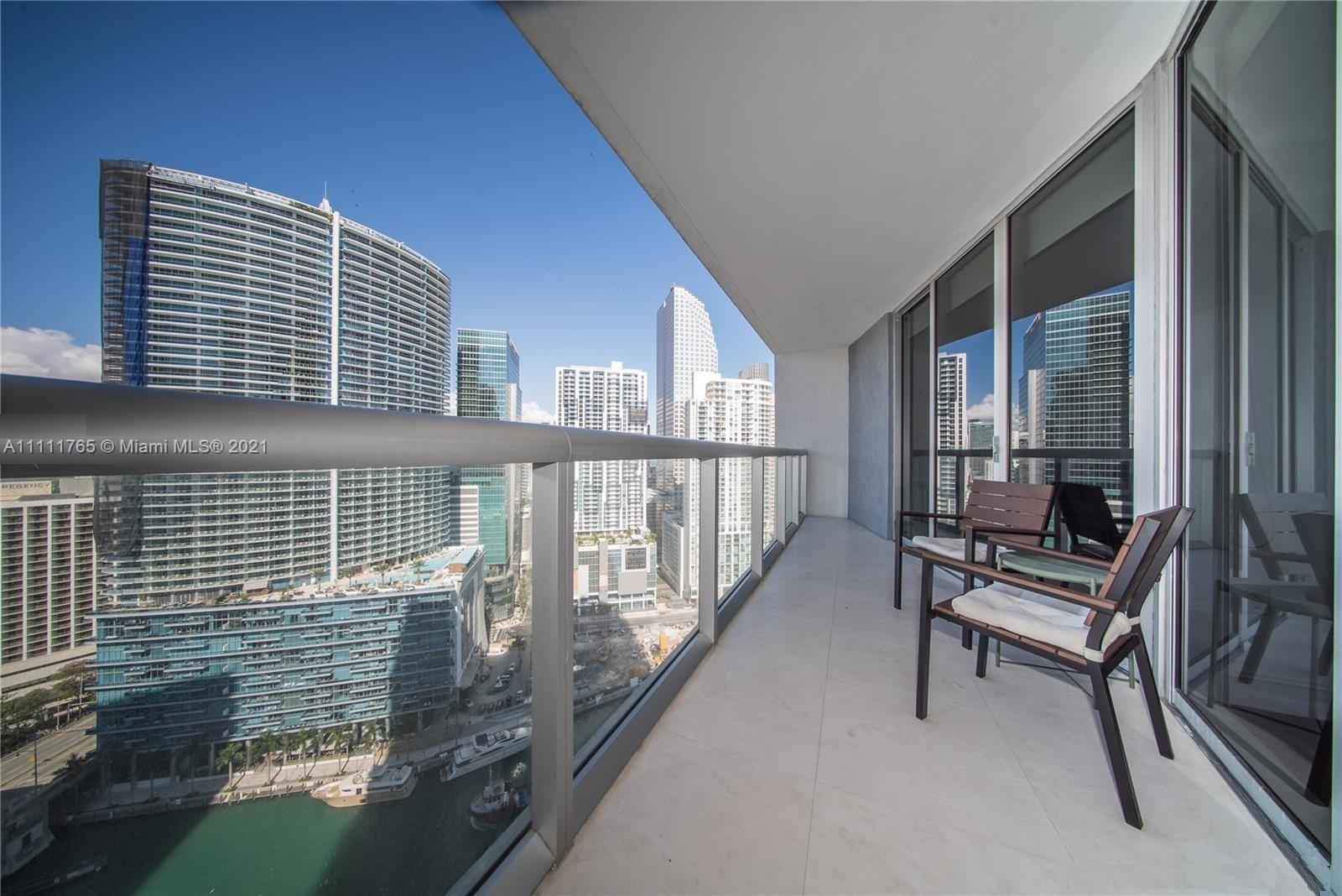 One-of-a-kind, largest 1 Bed/1 Bath Condo available For Sale  @ ICON BRICKELL, Tower I. Miami River