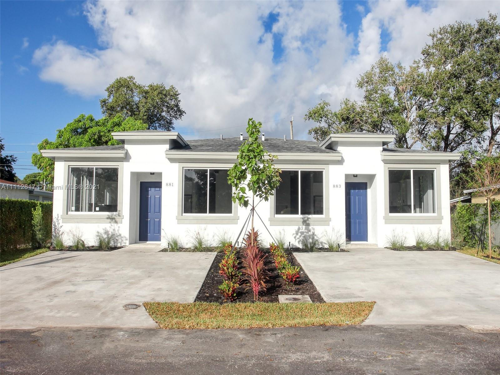 New 2021 construction 3 bed 2 bath in Ft Lauderdale for an amazing price.  Amazing opportunity to ge