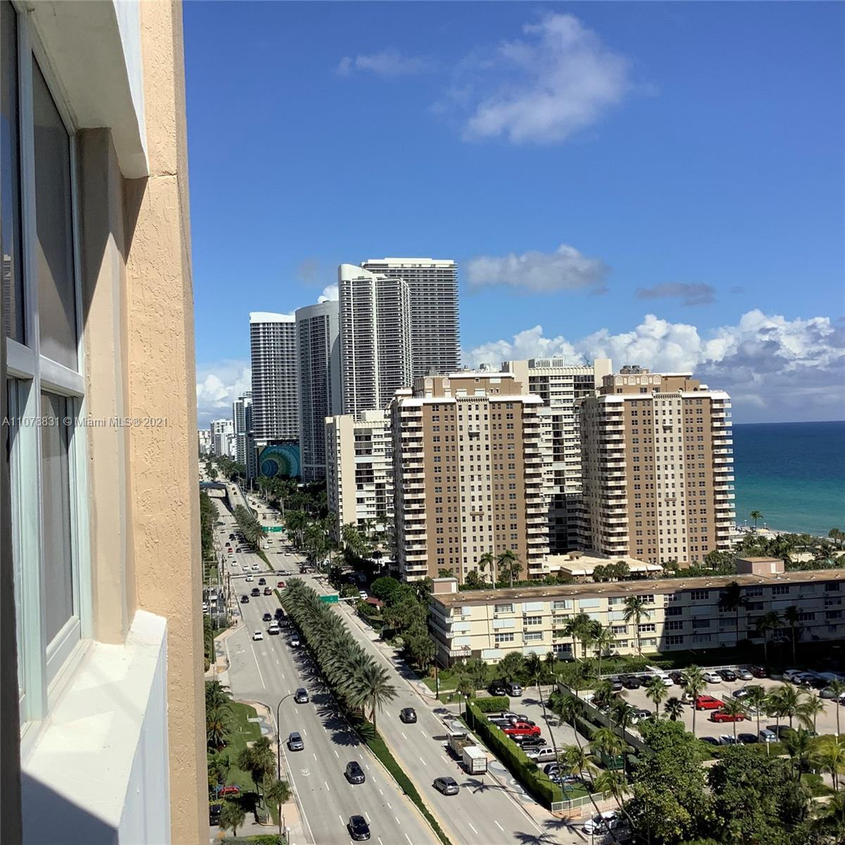 Corner 3 br 2.5 Bath, High Floor, Hurricane Windows/Doors. Unit to be sold unfurnished if requested.