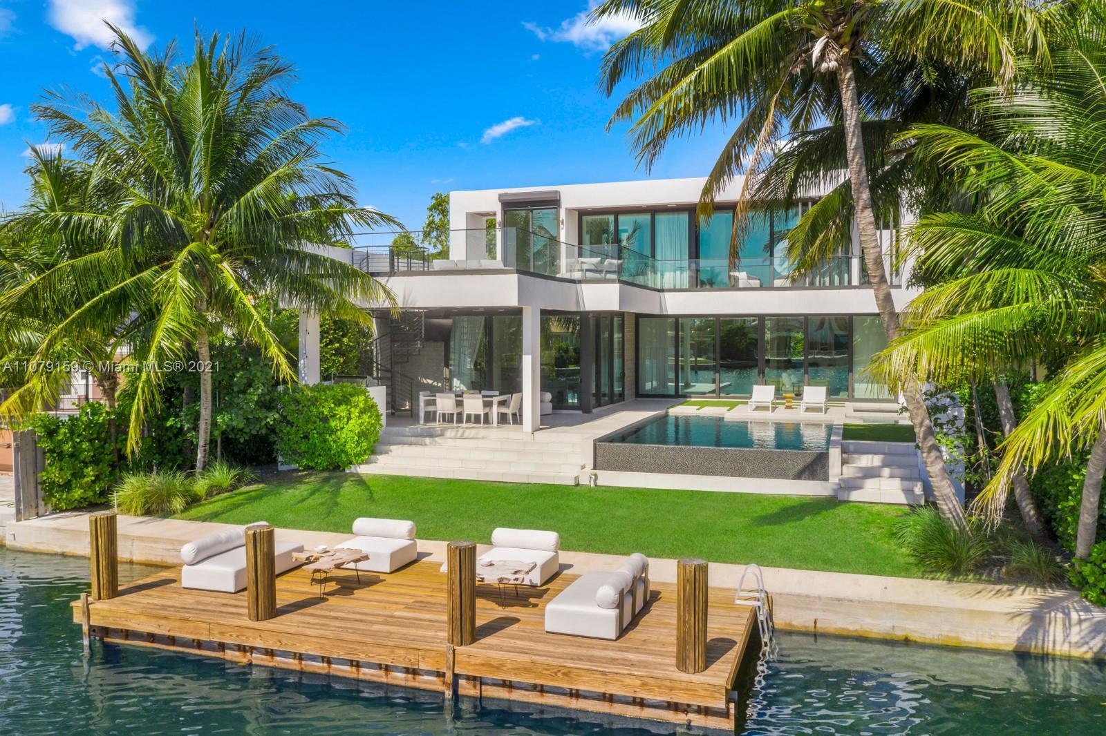 Stunning Contemporary Waterfront Architecture by Choeff Levy Fischman in Surfside's Biscaya Island!
