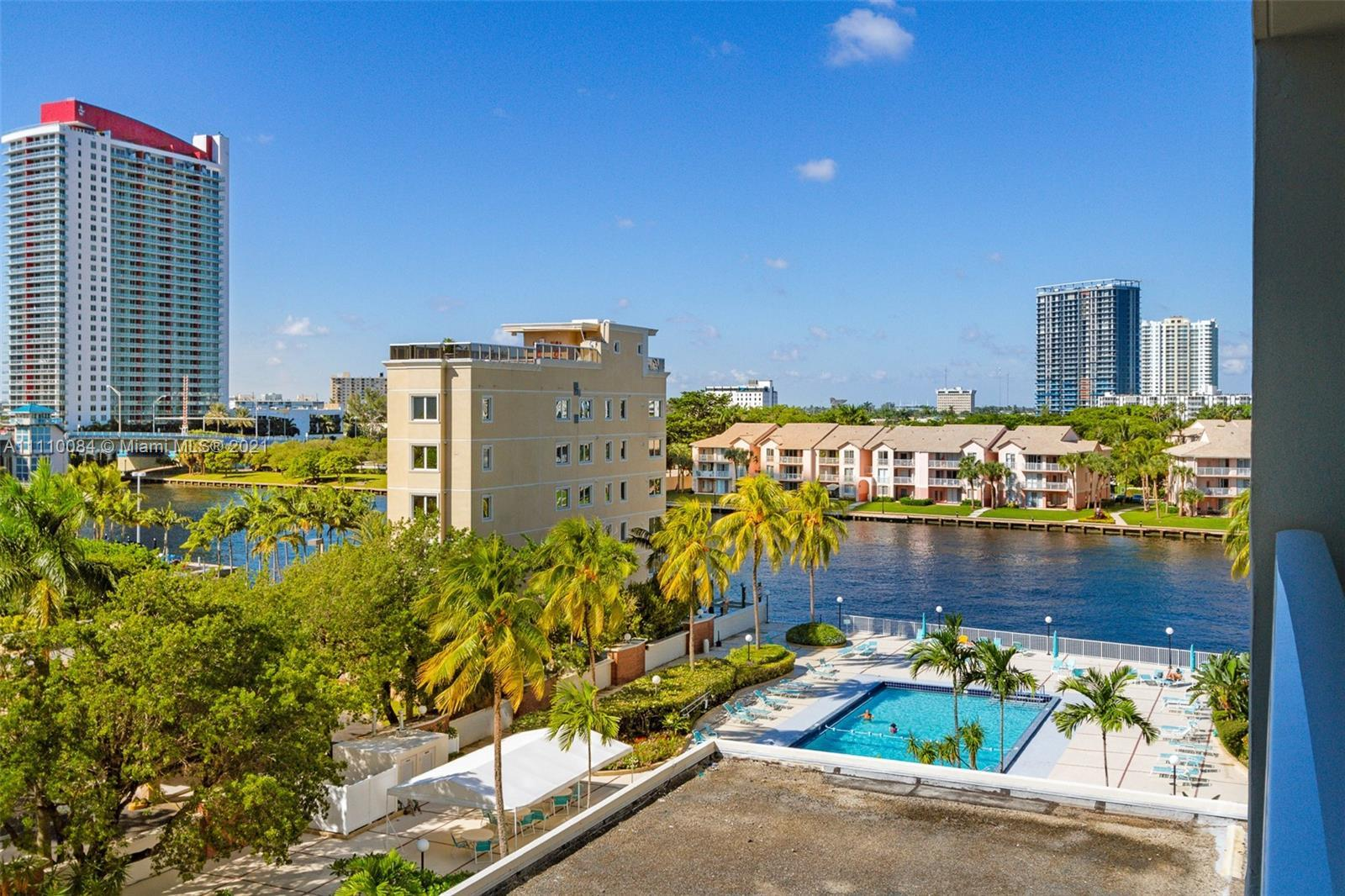 Waterfront living in the heart of Hollywood. Minutes from the beach, this residence features two bed