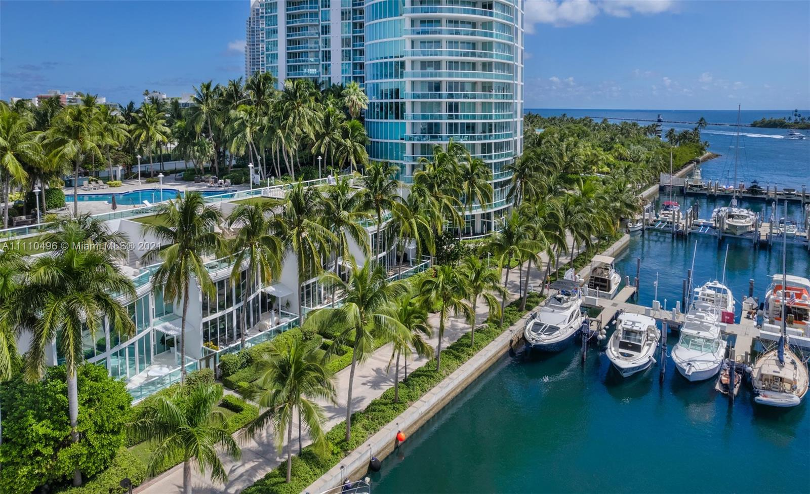 Own this unique Waterfront townhome located South of Fifth, Miami Beach's most prestigious residenti