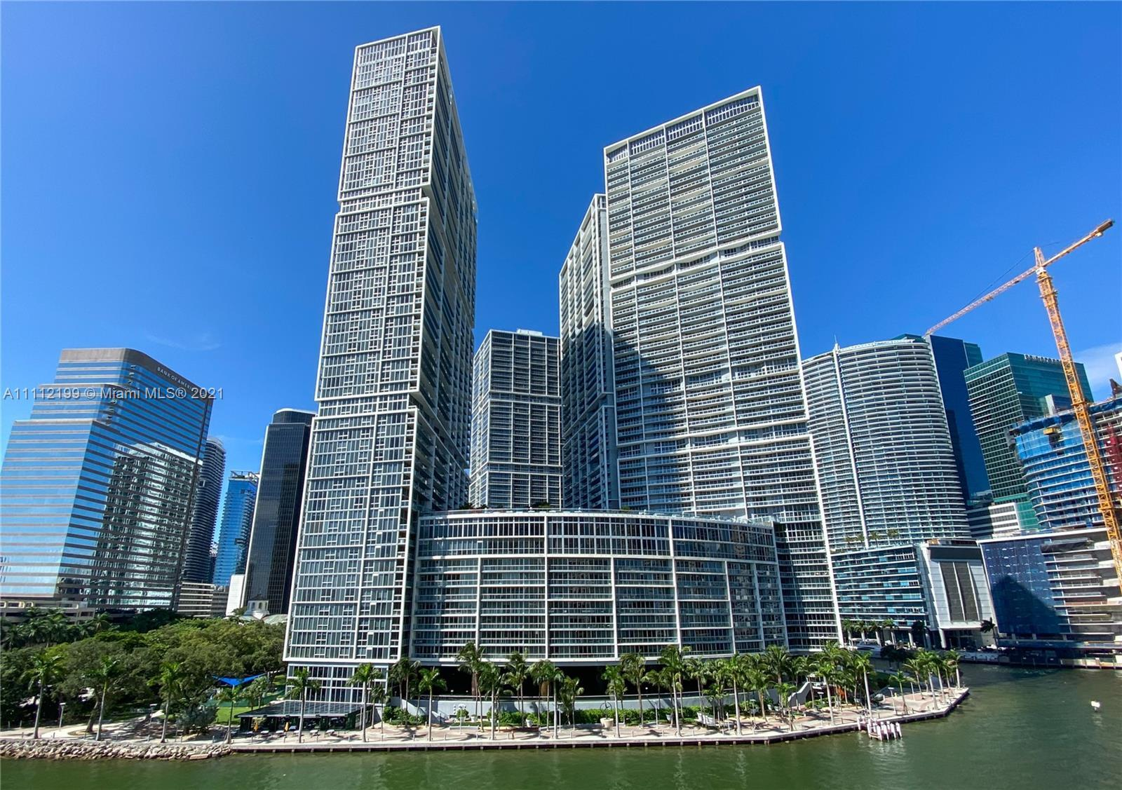 One-of-a-kind, largest 1 Bed/1 Bath Condo available For Sale @ ICON BRICKELL, Tower I. Miami River &
