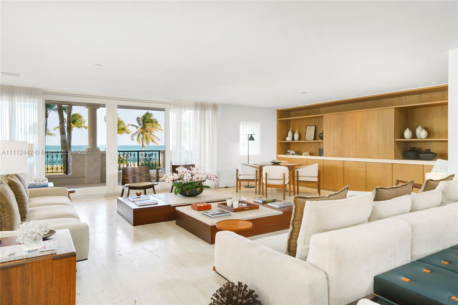 This expertly renovated sleek and modern 2nd floor Oceanside unit offers 3,580 SF and a large wrappi