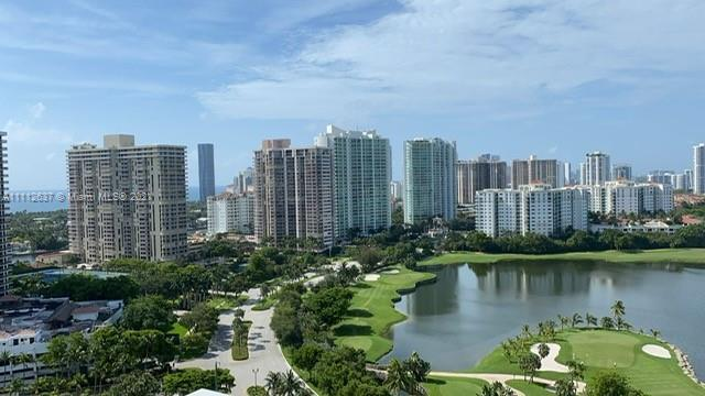 Amazing golf course view from this CORNER unit on the 22nd floor!  All around open views for evening