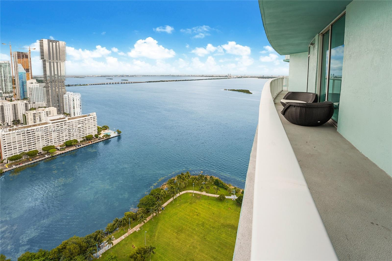 Enjoy water views from every room in this 2 bedroom 2.5 bath residence on high floor. Unit features