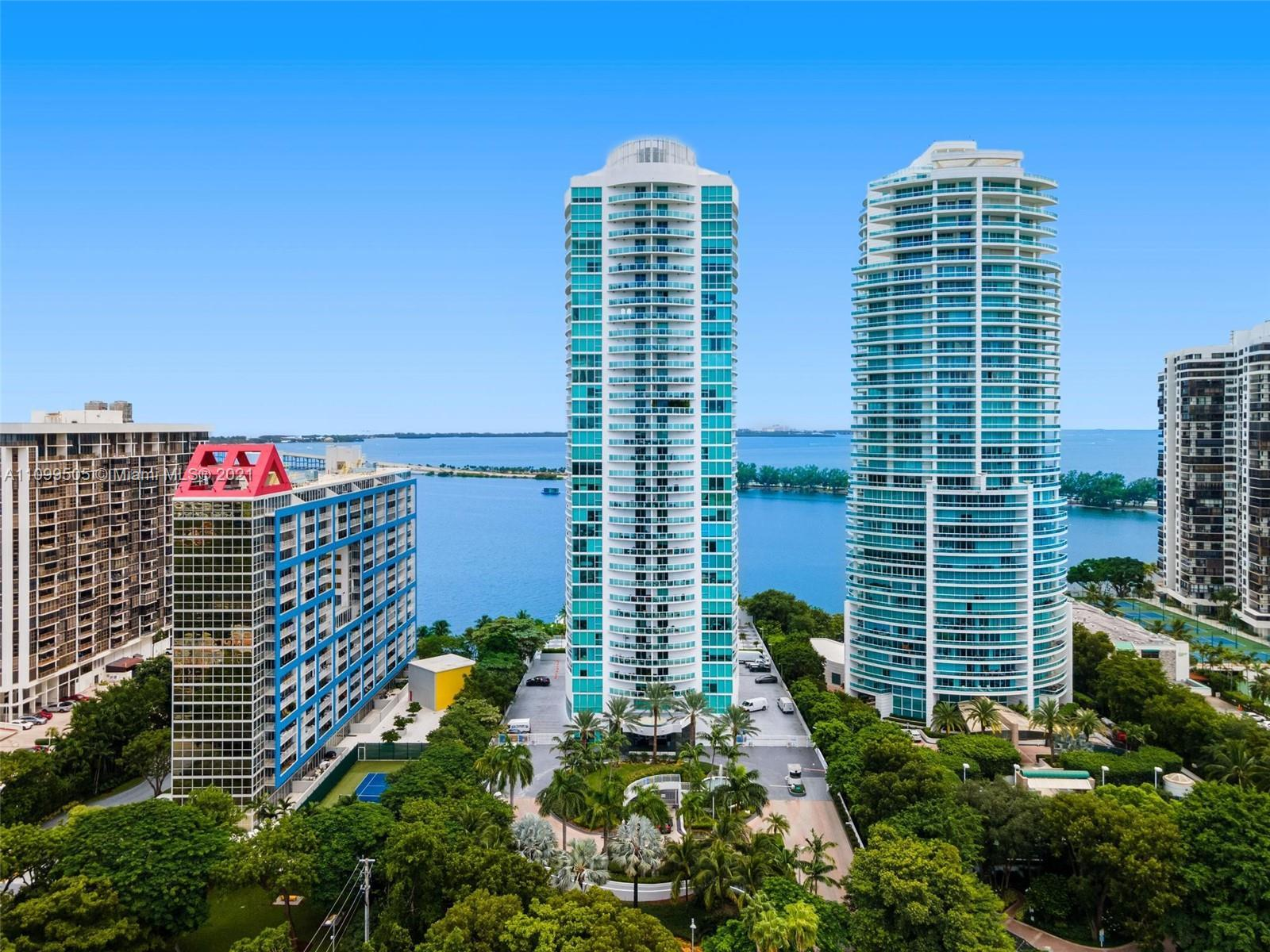 Move in ready at the exclusive Skyline at Brickell Condominium that offers a private marina, 24-hour
