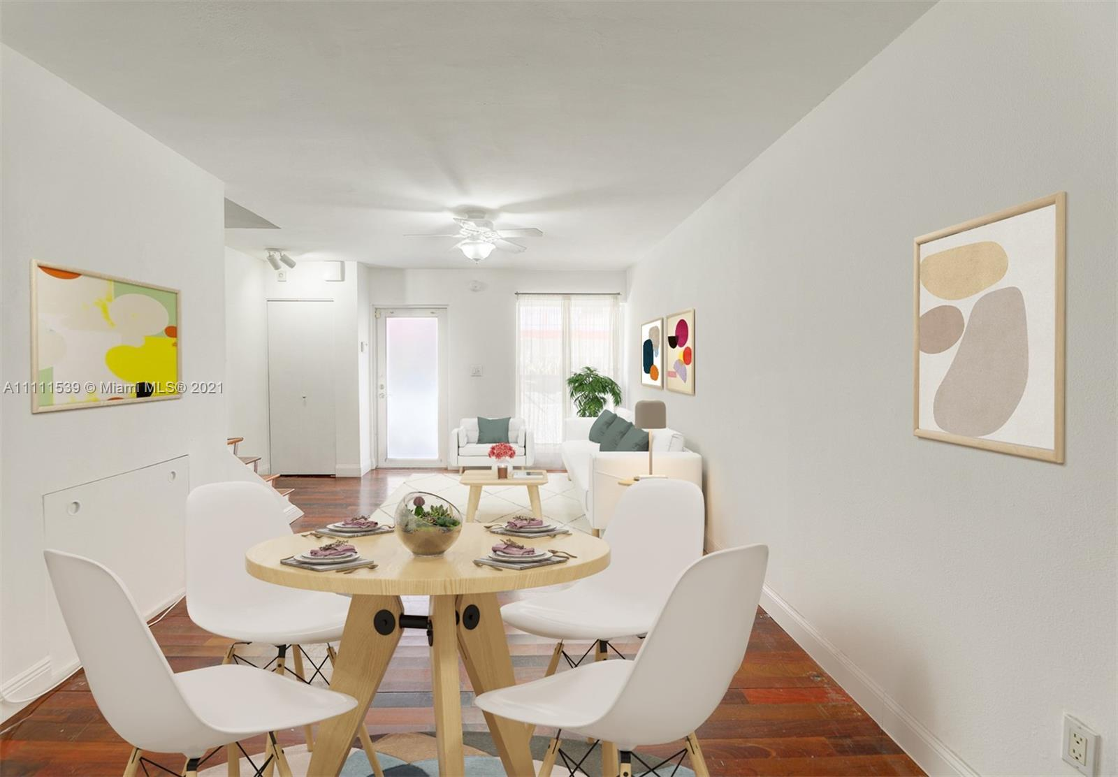 Art Deco charmer! Two story town house located in the heart of South Beach just a few blocks to the
