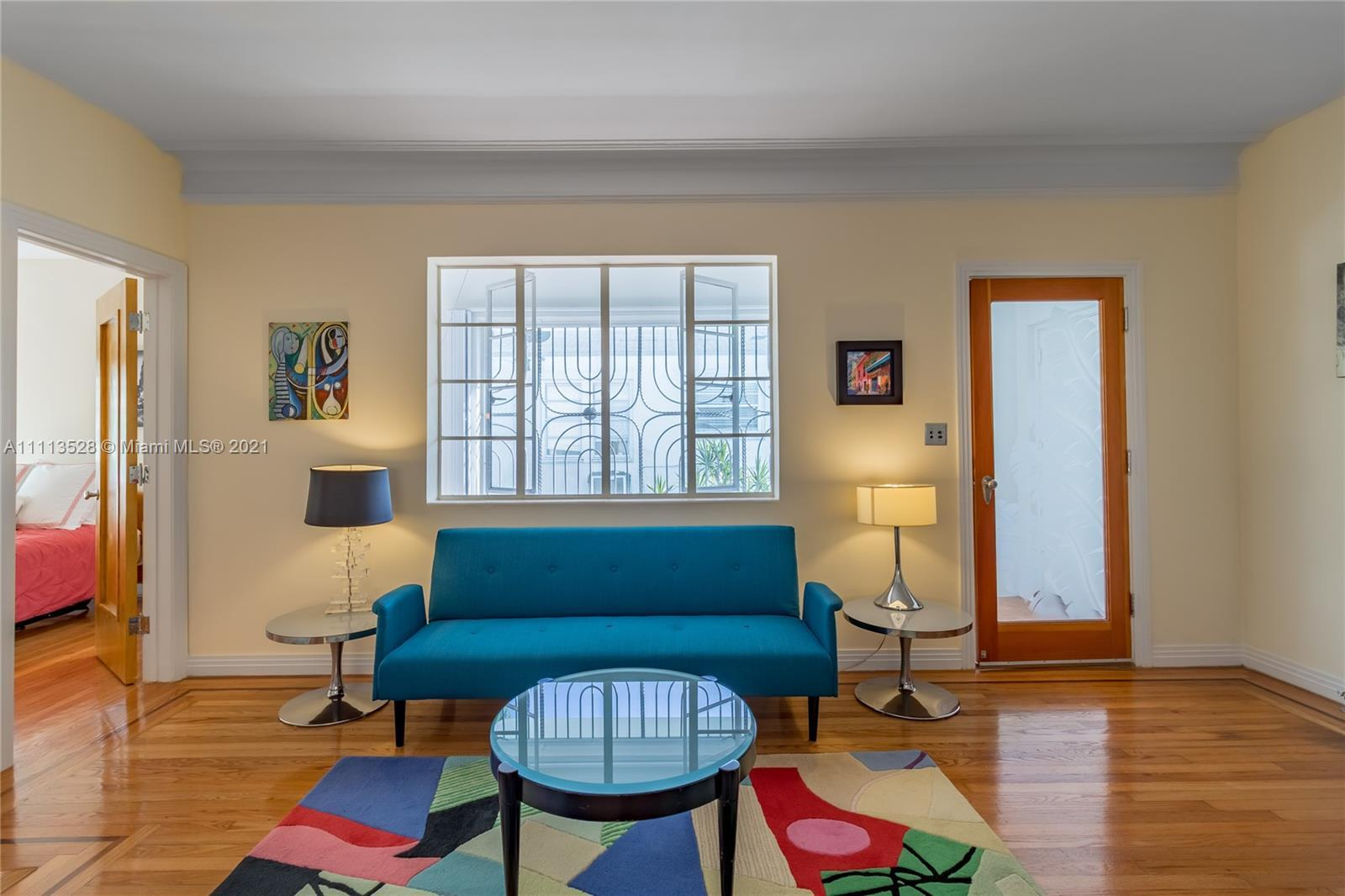 The ultimate in Modern Deco living! This top Floor front corner residence has been completely update