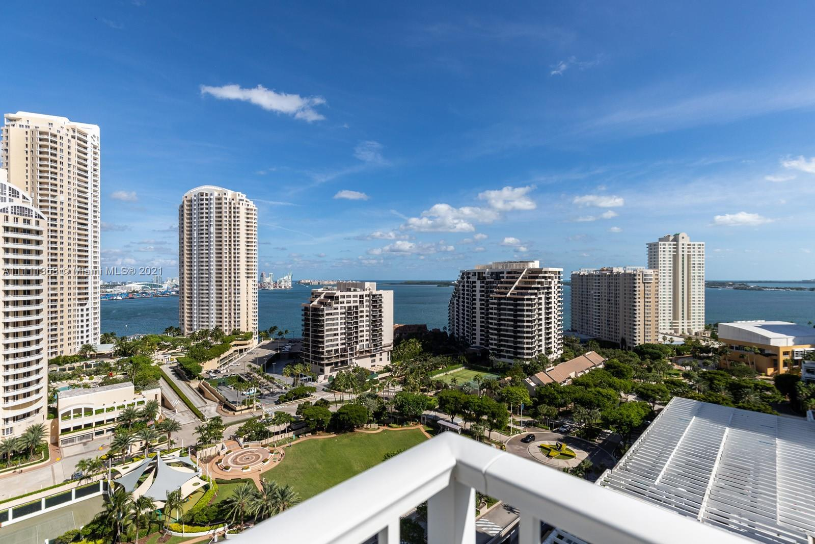 Spectacular CORNER unit in desirable Courts Brickell Key with beautiful views from the 20th floor! M