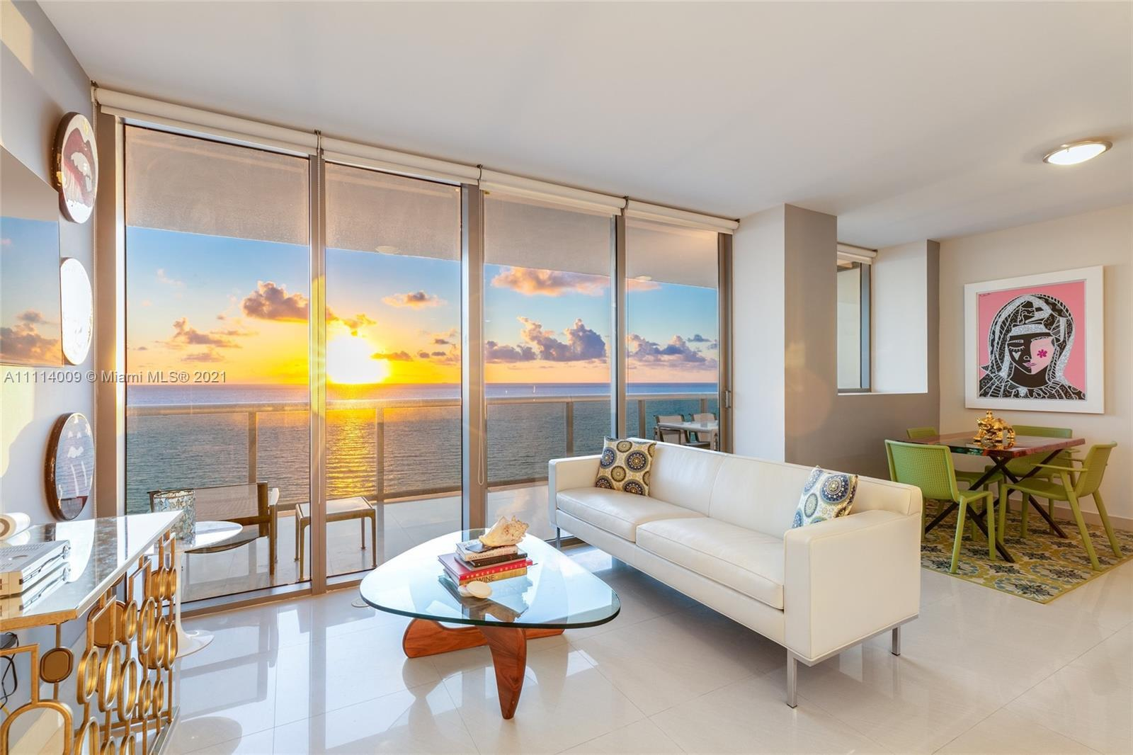 High above one of the most beautiful and spacious sandy shores in Miami Beach, Residence 1901 at MEi