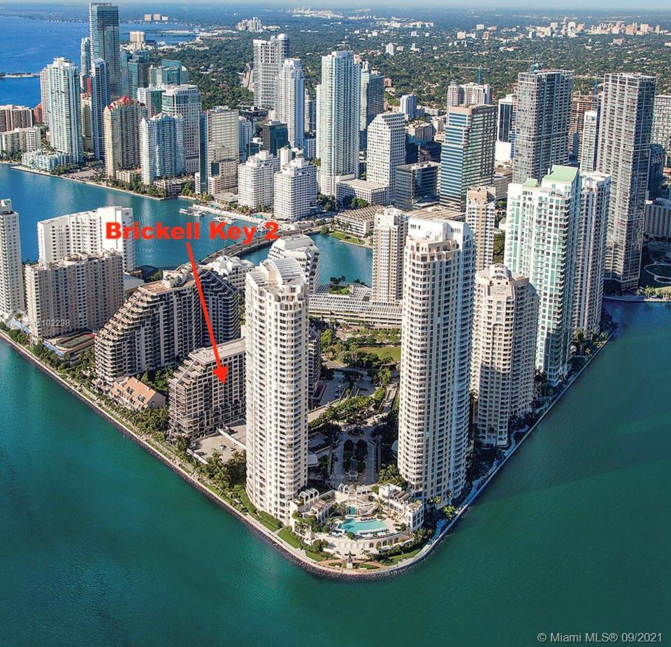 Come live on the exclusive island of Brickell Key. Or buy as an investment with a tenant already ren