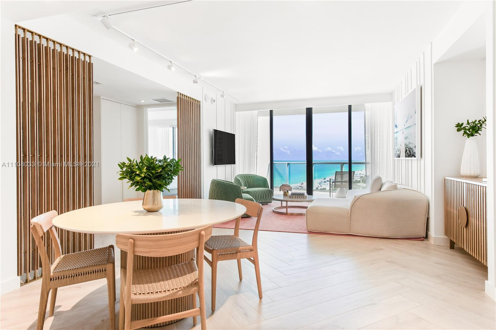 Welcome to The W South Beach. Enjoy this 1 bedroom 2 bathrooms plus a den oceanfront unit. Experienc