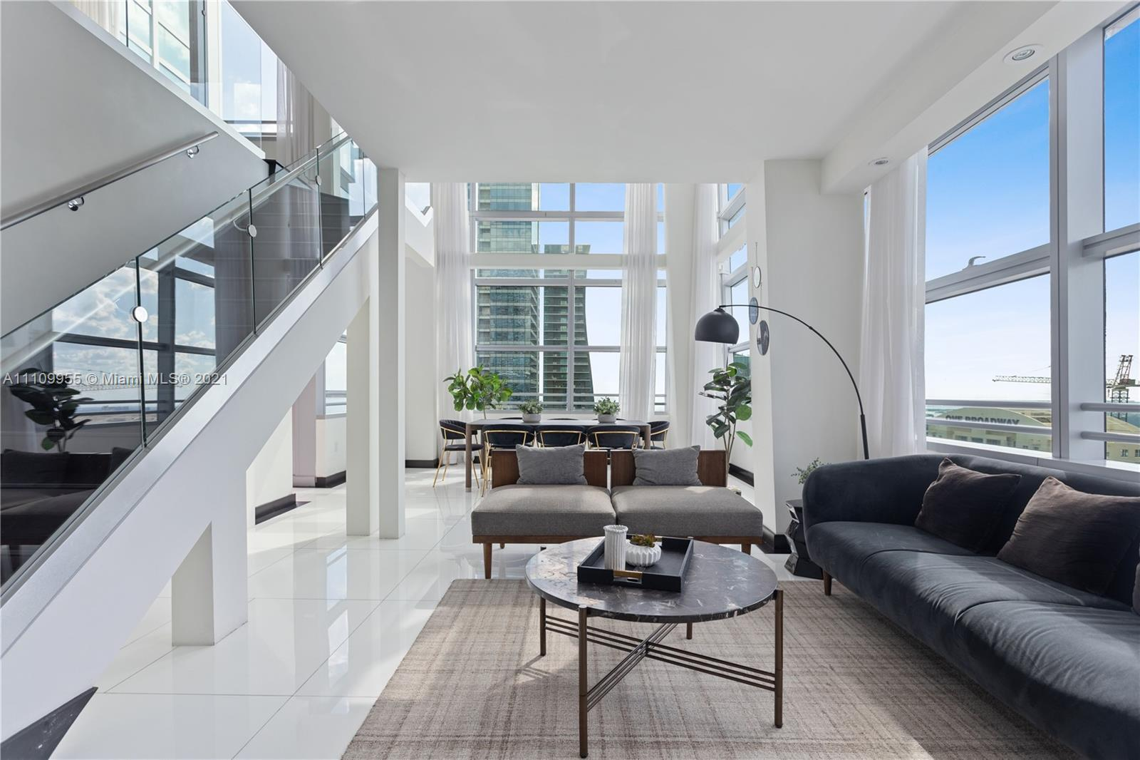 Air B&B approved! Income producing Penthouse. Daily rentals allowed. Two-story corner Ph in one of B