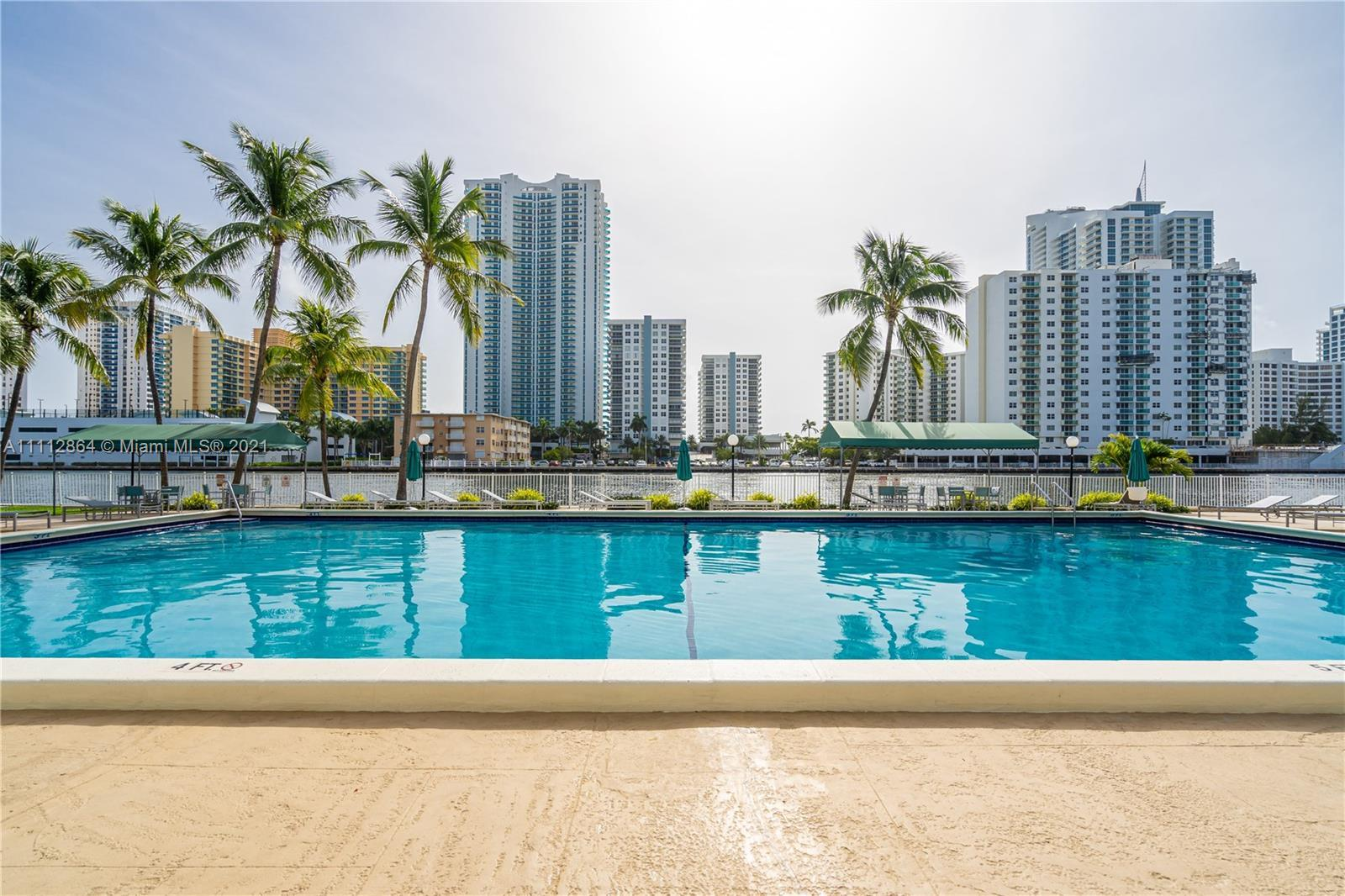 Bright & Spacious apartment in the desirable Three Island area of East Hallandale. This unit feature