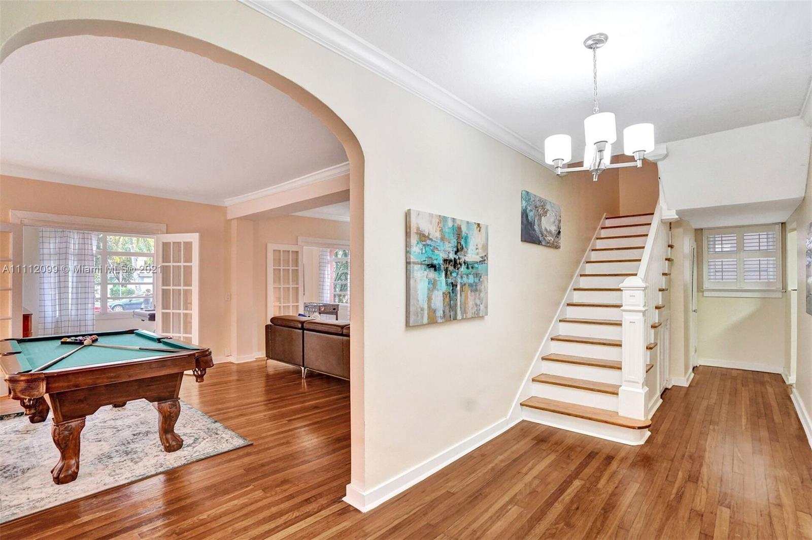Grand Historic Hollywood Home on beautiful Harrison St. Fully furnished stunning home is minutes fro