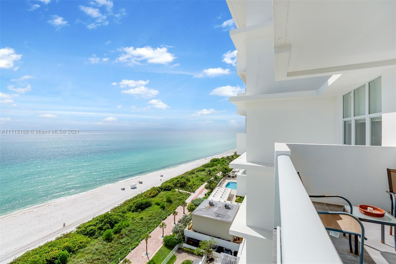 Direct oceanfront 2bedroom apartment with balcony and unobstructed, endless ocean views. Turn key, f