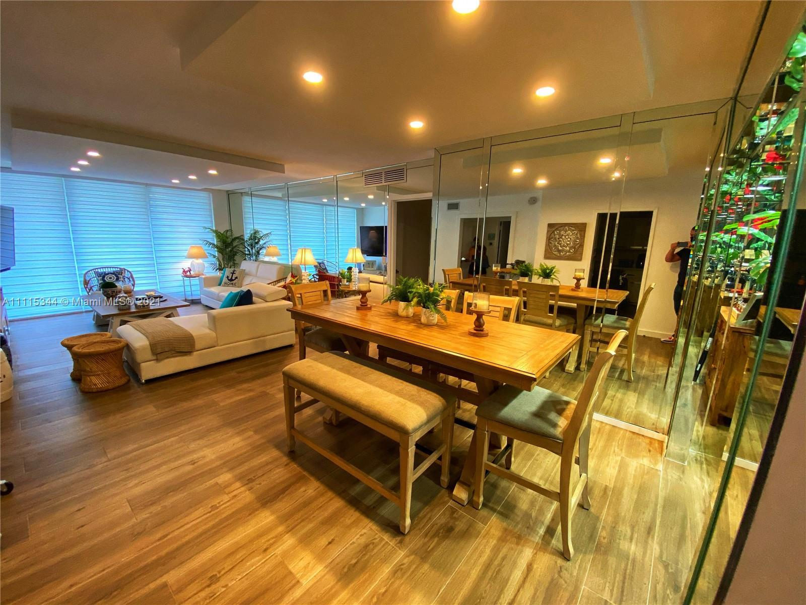 Wake up to the sound of Hallandale Beach waves in this entirely remodeled & tastefully furnished oce