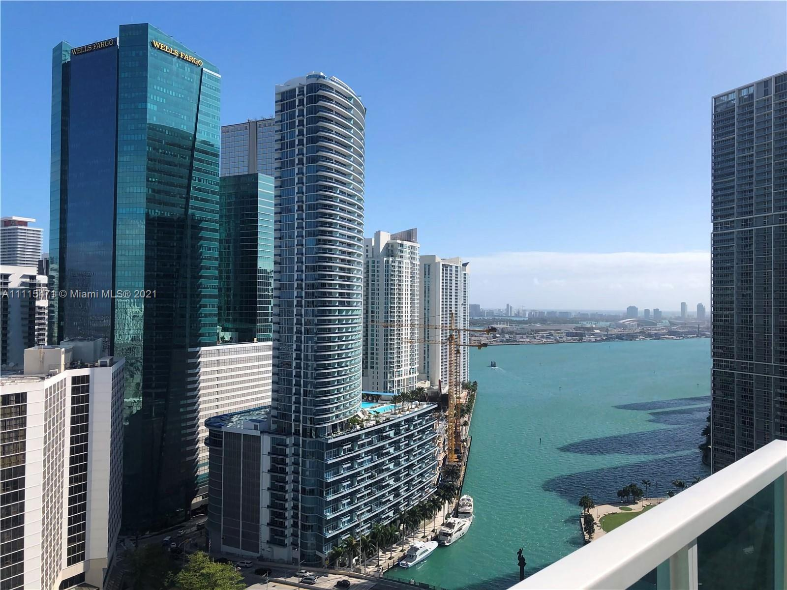 Amazing Views from this Loft Style 2 Bed 2 bath unit in the heart of Brickell. This unit features fl